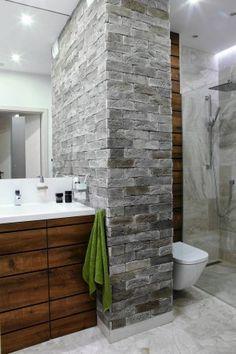 Wnętrza: łazienka podzielona na strefy