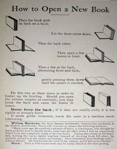 How to open a new book.