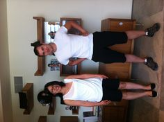 Digital Artists Maciej and Miho unknowingly dressed alike today!