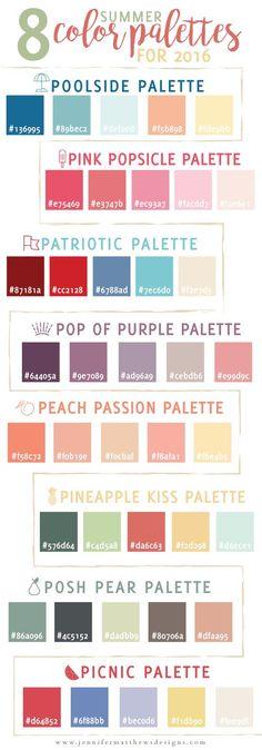 Summer-Color-Palettes from Jennifer Matthews Design
