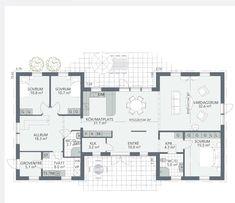 Fiskarhedenvillan Viggen 😊 Best Barns, Future House, Bungalow, Building A House, House Plans, Buildings, Villa, Floor Plans, Farmhouse