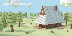 Cabin in the woods on Behance