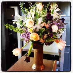 Beautiful Spring flower arrangement by our very talented Floral Designer Mary Stevens