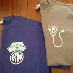 Glitter Nurse Monogram t shirt free by ShopSmashCakeCouture, $14.99