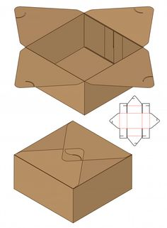 Box Packaging Die Cut Template For Print Discover thousands of Premium vectors available in AI and EPS formats Box Packaging Templates, Paper Packaging, Diy Gift Box, Diy Box, Paper Box Template, Box Patterns, Diy Origami, Craft Box, Box Design