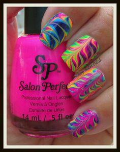 Beautiful neon swirl design