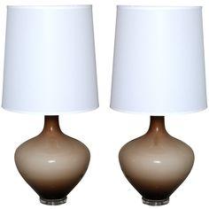 1stdibs   Pair of Mid Century Murano Glass Lamps