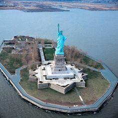 Statue of Liberty on Liberty Island, New York City