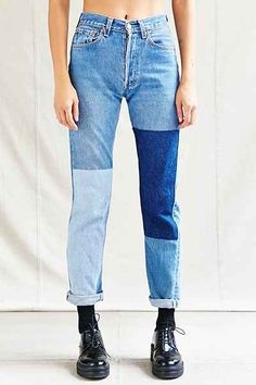 Urban Renewal Recycled Denim Panel Patch Jean - Urban Outfitters