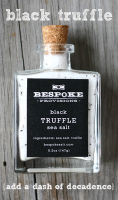 Bespoke Black Truffle sea salt instantly elevates any food you pair it with from fresh veggies, potatoes, meats, popcorn and even scrambled eggs- the possibilities are nearly endless.  Check out Black Truffle and a kaleidoscope of other sea salts at bespokesalt.com