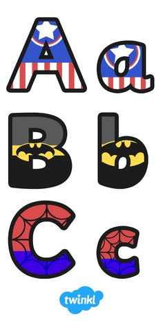 Superhero Alphabet Display Letter