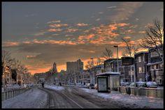 Sneeuw op de Vleutenseweg
