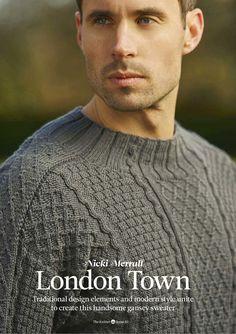 Вязание пуловера London Town