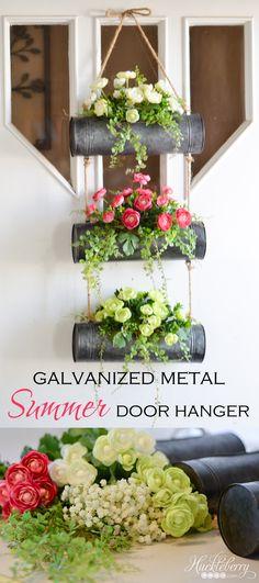 Galvanized Metal Summer Door Hanger
