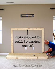 DIY Faux Fireplace E