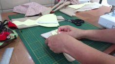 Tilda Parte 2 - Emendando os tecidos da boneca Tilda.