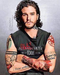 Jon Snow tatoué