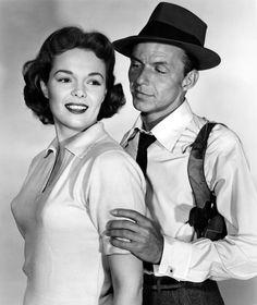 "Frank Sinatra and Nancy Gates fof ""Suddenly"""