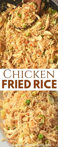Try This Easy Better Than Takeout Chicken Fried Rice Learn how to make this easy recipe of authentic homemade chinese chicken fried rice with egg and vegetables all tossed together in a wok to make it better than takeout and just like restaurant style. Homemade Chicken Fried Rice, Fried Chicken, Fried Rice With Egg, Cooking Chinese Food, Korean Food, Arroz Frito, Chinese Chicken, Food Dishes, Asian Recipes