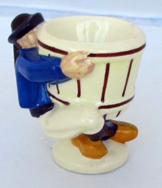 Artist Charles Mailliard of Quimper, figural egg cup from the Modern Movement.  Photo courtesy of countryfrenchpottery.com. Join our mailing list!