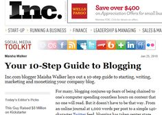 Your 10 Step Guide to Blogging - Inc Magazine