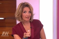 Current host Kaye Adams loves a statement pendant, and on this show she was wearing a gold initial personalised disc pendant.....
