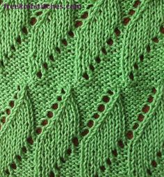 Dome Cable & Twist stitch from AllFreeKnitting hand knitted Pinterest...