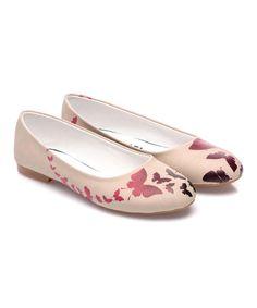 Look at this #zulilyfind! Pink Butterfly Ballet Flat #zulilyfinds