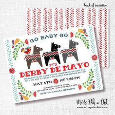 Cinco de Mayo Kentucky Derby Party Invitation Printable