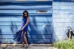 @proenzaschouler blue fringe dress (today on chicityfashion.com)