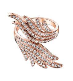 Anita Ko - Wrap around wing ring on red gold and diamonds ~ 7'500 Euros