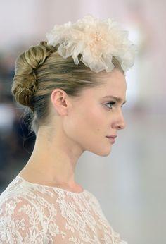 Hair and Makeup at Bridal Fashion Week Spring 2016 | POPSUGAR Beauty