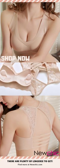 92facf4c772da Wireless Lace Soft T-Shirt Breathable Cozy Stretchy Push Up Bras