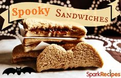 Such a cute idea for your kids lunch on Halloween! Use a cookie cutter (pumpkin, bat, skull, whatever) to cut out their sandwich. Also works for easy fun party foods for the classroom, too! | via @SparkPeople