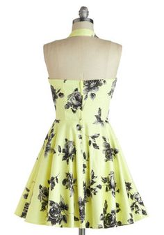 Traveling Cupcake Truck Dress in Lemon Roses, #ModCloth