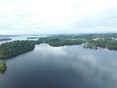 Pyhäjärvi, lake Pyhäjärvi. Tampere seen from Pirkkala side