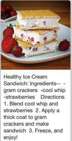 Ice Cream Sandwich - 60 Ice Cream You'll Want to Wolf down . → Food Ice Cream Sandwich - 60 Ice Cream You'll Want to Wolf down . Yummy Snacks, Yummy Treats, Snack Recipes, Dessert Recipes, Yummy Food, Dessert Ideas, Sweet Treats, Snacks List, Diet Snacks