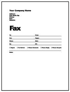 Blank Fax Cover Sheet Template Fax Templates  Template