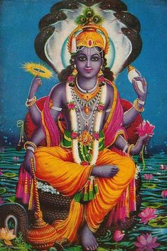 Lord Vishnu~Hindu God of the home and relationships within it
