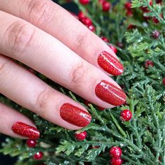 Turn up the glam with Cran-tastic, a sparkling scarlet glitter. Get quick stylish nails in minutes with Color Streets fall nail inspiration that fit for any style or occasion. #christmasnaildesign #colorstreetnails #prettynailartdesign Red Glitter Nail Polish, Dry Nail Polish, Nail Polish Strips, Red Christmas Nails, Holiday Nails, Bright Red Nails, Es Nails, Holiday Nail Designs, Instagram Nails