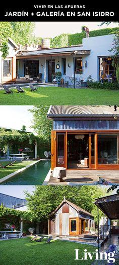 """Jardín y galería de estilo campestre en el Bajo San Isidro, parte del Coleccionable 57 de Living, """"Vivir en las afueras"""". Mirá el recorrido completo en nuestro site."""
