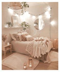 Room Design Bedroom, Girl Bedroom Designs, Room Ideas Bedroom, Small Room Bedroom, Fancy Bedroom, Bedroom Inspo, Classy Bedroom Ideas, Bedroom Inspiration Cozy, Small Teen Room