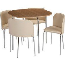 Buy Hygena Amparo Oak Effect Dining Table & 4 Chairs - Chocolate at Argos.co.uk, visit Argos.co.uk to shop online for Dining sets, Dining room furniture, Home and garden