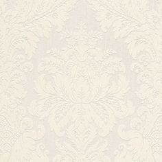 "Walls Republic Traditional 33' x 20.8"" Grand Floral Damask Wallpaper Color: White"