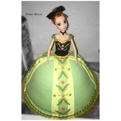 Anna cake #anna #frost #frozen #annacake #Frozencake  #frosttårta #dollcake #docktårta #annatårta #pastel #torta #diy #hobby #homebaked #hembakat #