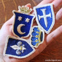 Yumiko Higuchi Japanese Embroidery, Heirloom Sewing, Embroidery Patches, Crests, Needlework, Dragon, Badges, Handmade, Denim