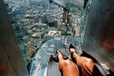 L.A.'s The Skyslide literally plunges riders from the 70th floor.