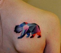 bear tattoo-- I REALLY like this