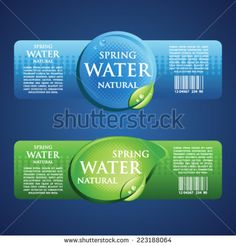 Find Drinking Water Label Blue Green stock images in HD and millions of other royalty-free stock photos, illustrations and vectors in the Shutterstock collection. Water Packaging, Brand Packaging, Packaging Design, Natural Mineral Water, Water Logo, Spring Water, Marine Biology, Drinking Water, Minimalist Design
