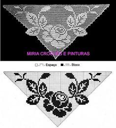 Filet Crochet, Thread Crochet, Crochet Motif, Crochet Designs, Crochet Lace, Knitting Dolls Clothes, Crochet Doll Dress, Crochet Curtains, Crochet Hearts